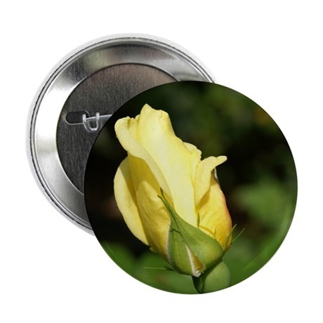 "Yellow Rose Bud 2.25"" Button (10 pack)"