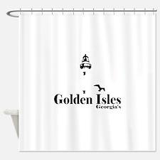 Golden Isles GA - Lighthouse Design. Shower Curtai
