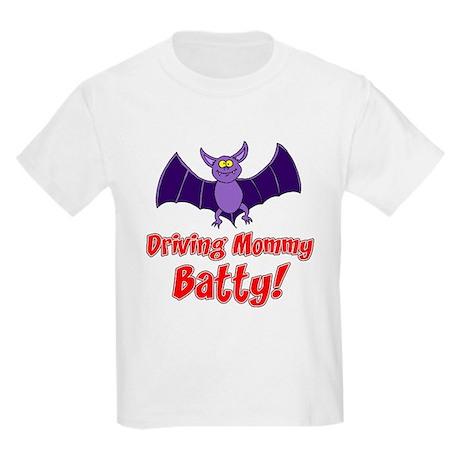 Driving Mommy Batty Kids Light T-Shirt