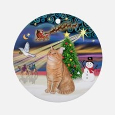 Christmas Magic - Orange Tabby cat Orament