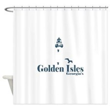 Golden Isles GA - Lighthouse Design. Shower Curtai