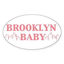BROOKLYN BABY Oval Decal