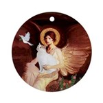 Angel3 - Turkish Van cat Ornament (Round)