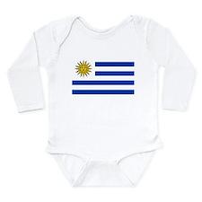 Cute Flag uruguay Long Sleeve Infant Bodysuit