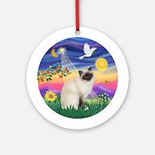 Twilight - Birman Cat Ornament (Round)