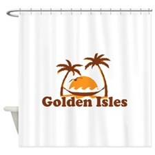 Golden Isles GA - Palm Trees Design. Shower Curtai