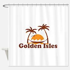 Golden Isles GA - Palm Trees Design. Shower Curtai