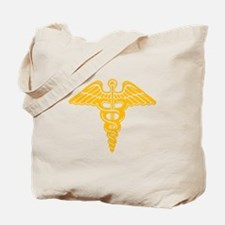 Medic: Cadaceus (gold) Tote Bag