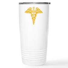Medic: Cadaceus (gold) Travel Coffee Mug