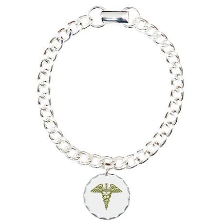 Medic: Cadaceus (OD) Charm Bracelet, One Charm