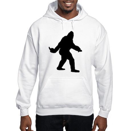 Bigfoot Flips The Bird Hooded Sweatshirt