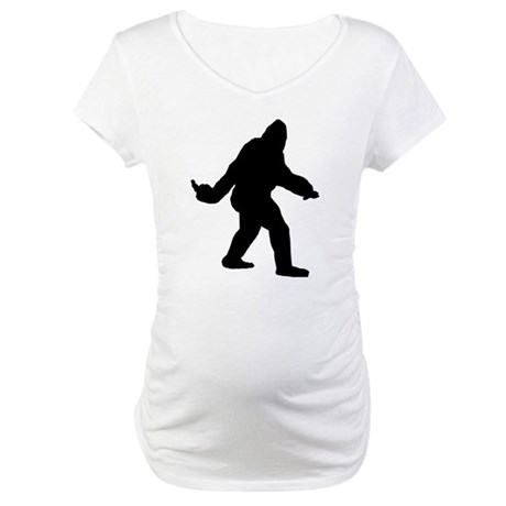 Bigfoot Flips The Bird Maternity T-Shirt