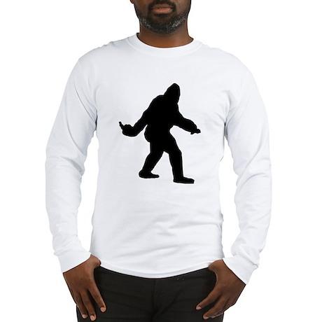 Bigfoot Flips The Bird Long Sleeve T-Shirt