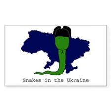 Snakes in the Ukraine Rectangle Decal