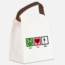 Peace Love Ballet Canvas Lunch Bag