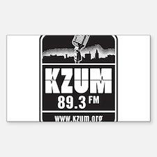 KZUM 89.3 FM/HD Sticker (Rectangle)