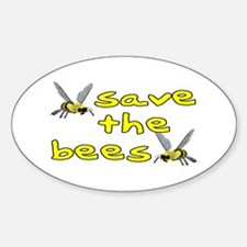 Save the bees - Sticker (Oval)