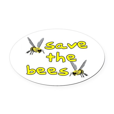 Save the bees - Oval Car Magnet