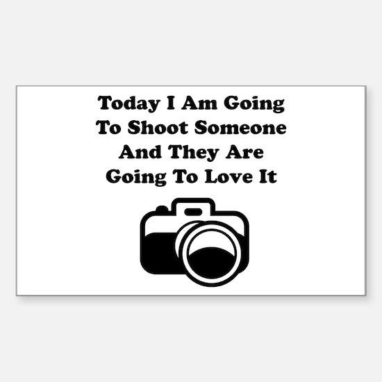 Shoot Someone Camera Sticker (Rectangle 10 pk)