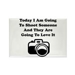 Shoot Someone Camera Rectangle Magnet (10 pack)
