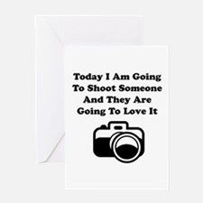 Shoot Someone Camera Greeting Card