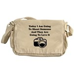 Shoot Someone Camera Messenger Bag