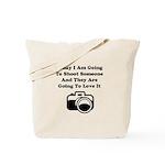 Shoot Someone Camera Tote Bag