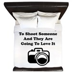 Shoot Someone Camera King Duvet