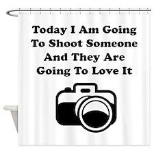Shoot Someone Camera Shower Curtain