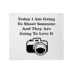 Shoot Someone Camera Throw Blanket