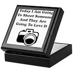 Shoot Someone Camera Keepsake Box