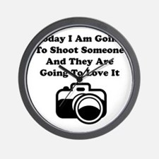 Shoot Someone Camera Wall Clock