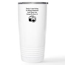 Shoot Someone Camera Thermos Mug