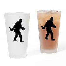 Bigfoot Flips The Bird Drinking Glass