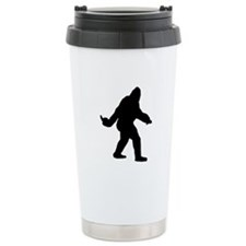 Bigfoot Flips The Bird Travel Coffee Mug