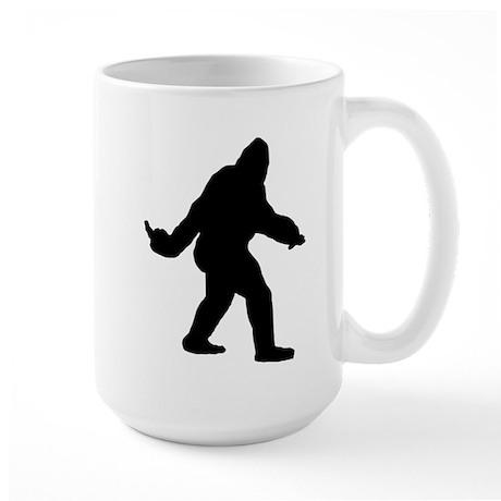 Bigfoot Flips The Bird Large Mug