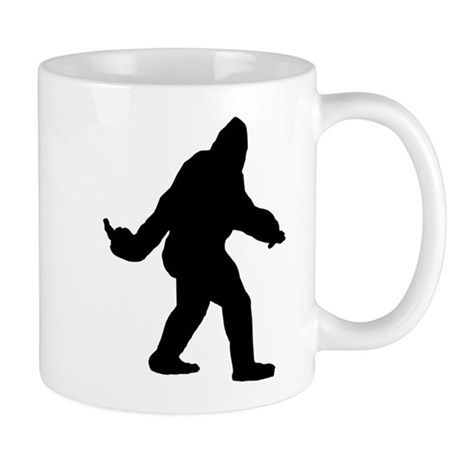 Bigfoot Flips The Bird Mug