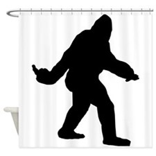 Bigfoot Flips The Bird Shower Curtain