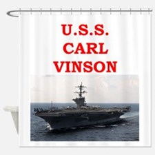 carl vinson Shower Curtain