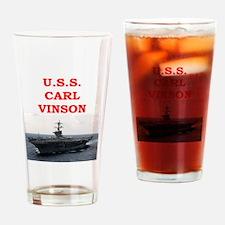 carl vinson Drinking Glass