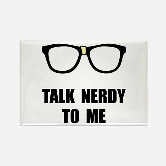 Talk Nerdy To Me Rectangle Magnet (10 pack)