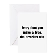 Typo Errorists Greeting Card