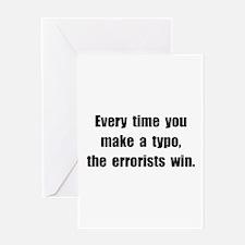 Typo Errorists Greeting Card