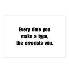 Typo Errorists Postcards (Package of 8)