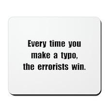 Typo Errorists Mousepad
