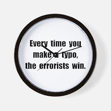 Typo Errorists Wall Clock
