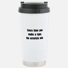 Typo Errorists Travel Mug