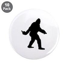 """Bigfoot Flips The Bird 3.5"""" Button (10 pack)"""