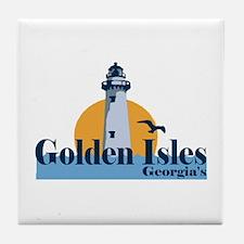 Golden Isles GA - Lighthouse Design. Tile Coaster