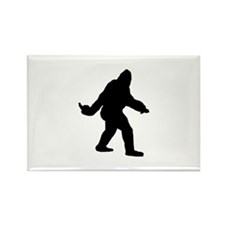 Bigfoot Flips The Bird Rectangle Magnet